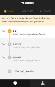 Freeletics Running mit dem Coach