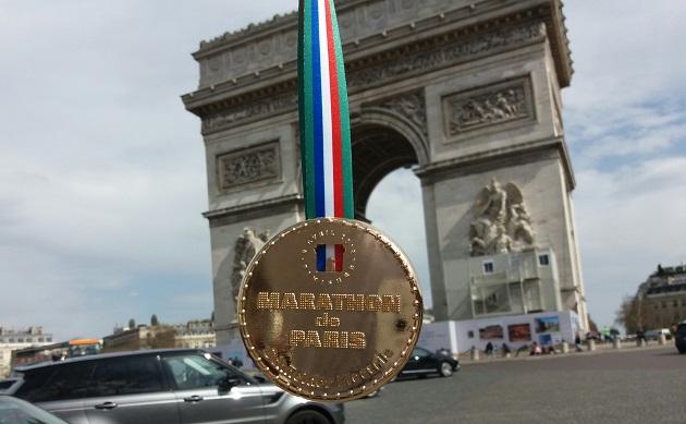 Paris Marathon 2018 geschafft